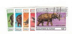 CONGO REPUBLIC Sc#1054-1058 Used VF