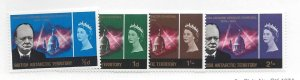 British Antarctic Territory, 16-19, Churchill Memorial Issue Singles, MNH