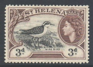 Saint Helena Scott 145 - SG158, 1953 Elizabeth II 3d MH*