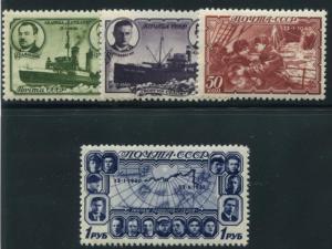 Russia 772-775 Mint NH 1940 SHIPS, MAP