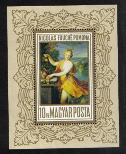 Hungary  1969  MNH  Paintings Pomona by Fouche sheet