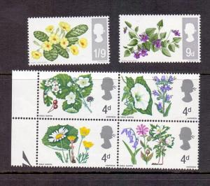 Great Britain 1967 MNH flowers