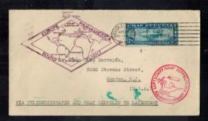 1930 USA Graf Zeppelin Cover Around the World to Camden NJ # C15