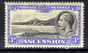 Ascension Island 1934 KGV 3d Black & Ultramarine MM SG 25 ( R819 )