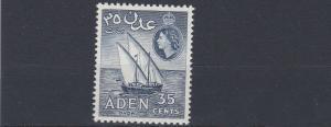 ADEN    1964   S G 81  35C  INDIGO VIOLET        MNH