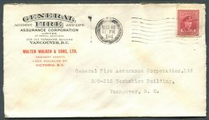CANADA WWII BLACK OUT CANCEL COVER VICTORIA