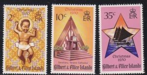 Gilbert & Ellice Islands # 170-72, Christmas, NH, 1/2 Cat.