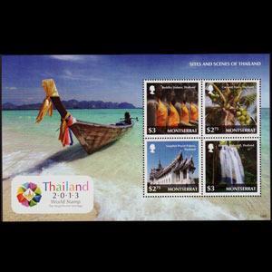 MONTSERRAT 2013 - Scott# 1327 S/S Thailand Scenes NH