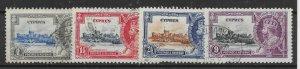 CYPRUS SG144/7 1935 SILVER JUBILEE SET USED