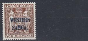 WESTERN SAMOA  1945 - 53  S G 207  2/6  DEEP BROWN  MH