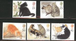 Great Britain Scott 1586-1590 MNH** 19925 Cat set