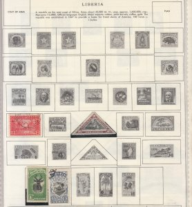 Liberia - small stamp collection-2 on double-side Album pages