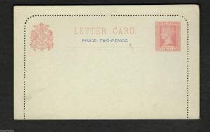 c1900's   Australia LETTER CARD Queen Victoria One Penny