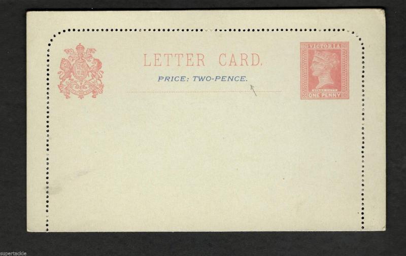 c1900's   Australia LETTER CARD Queen Victoria One Penny