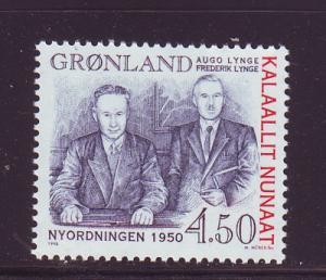Greenland Sc335 1998 New Order Lynge stamp mint NH