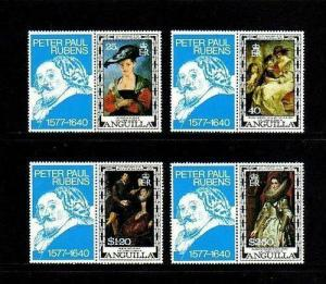 ANGUILLA - 1977 - RUBENS PAINTINGS - 400th ANNIVERSARY - MINT SET + LABELS!