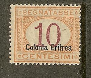 Eritrea, Scott #J2, Overprinted 10c Postage Due, MH