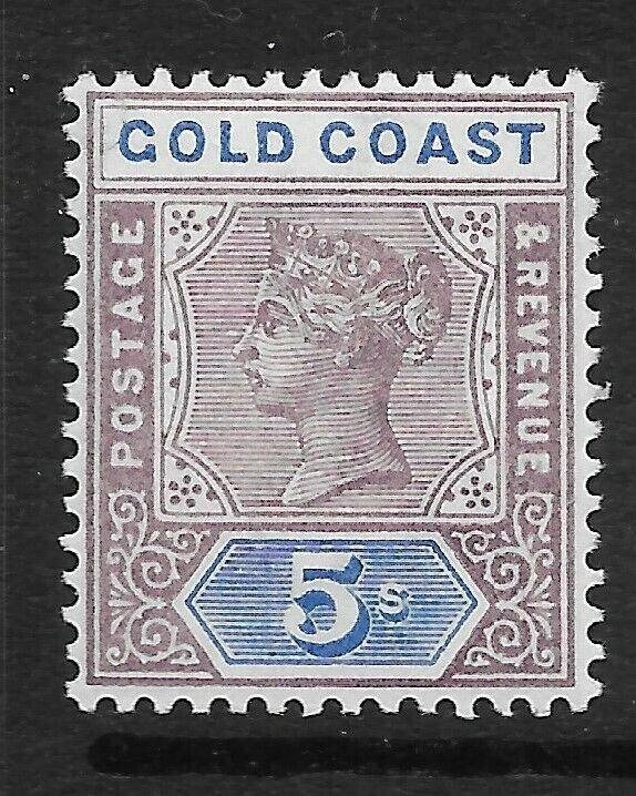 GOLD COAST SG22 1889 5/= DULL MAUVE & BLUE MTD MINT