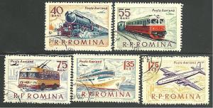 Romania #C137-C141, Transportation, Used**-
