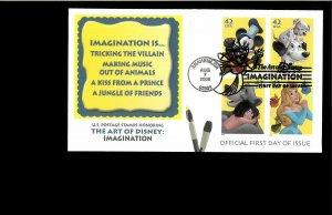 2008 FDC  Art of Disney Imagination anaheim CA
