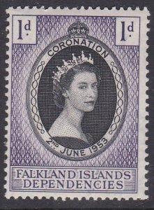 Falkland Islands Dependencies Sc #1L18 Mint Hinged; Mi #18