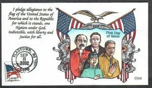 $US Collins FDC SC#2593 I pledge allegiance...