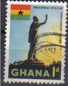 GHANA, 1959, used  1d. Nkrumah Statue, Accra