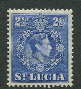 St. Lucia - Scott 115 - KGVI - Definitive -1938 - MH -Single 2.1/2p Stamp