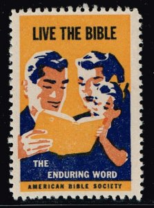 US STAMP CHRISTIAN LABEL STAMP LIVE THE BIBLE
