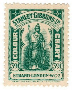(I.B) Cinderella Collection : Stanley Gibbons Colour Chart (Blue-Green 61)