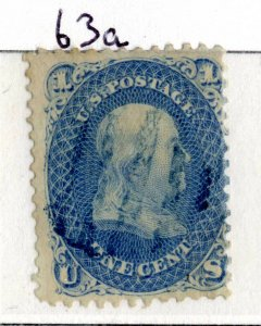 USA  Scott #63a, 1861, 1c ultra, Franklin, Used