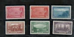 Canada #241 - #245 Extra Fine Never Hinged Set