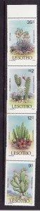 Lesotho-Sc#516-9-unused NH set-Flowers-Flora-Cacti-1986-