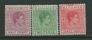 STAMP STATION PERTH Bahamas #154-156 KVI Definitive 1951 MNH CV$4.00