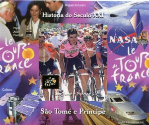 Sao Tome & Principe 2006 CYCLING Tour de France s/s Imperforated Mint (NH)