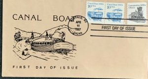 Canal Boat Buffalo New York 2257 Transportation Coil