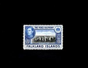 FALKLAND IS - 1938 - KG VI - FLOCK OF SHEEP - # 87 - SCAN 3 - MNH SINGLE!