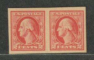 US Sc#532 Pair M/NH/EF, Type IV Imeperf Small Natural Gum Skip Line, Cv. $160