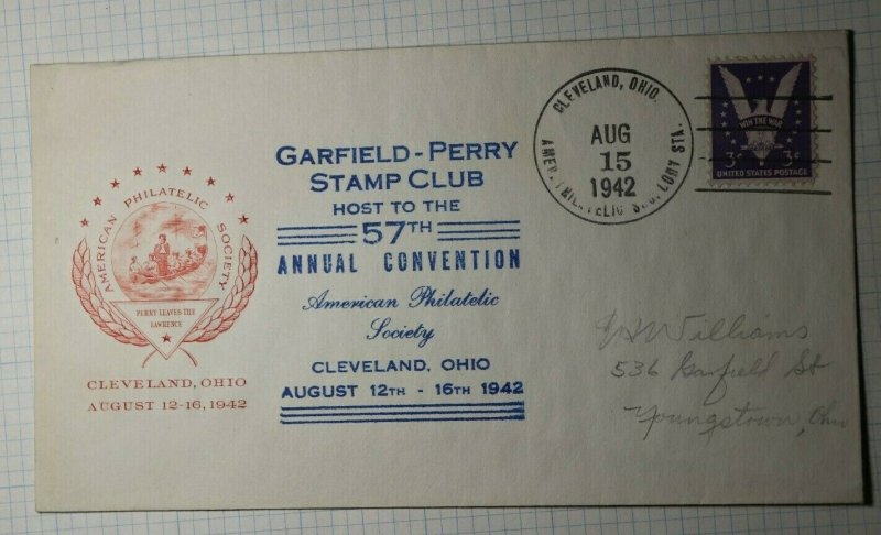 GPSC Cleveland OH Convention APS Philatelic Cachet Cover 1942