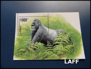 Congo - Gorillas - Mini Sheet MNH