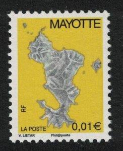 Mayotte Map 1v Variety 'Phil@poste' SG#188