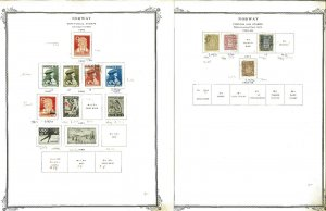 Norway 1856-1973 M & U (mostly) Hinged & in Mounts on Scott Specialty Pages