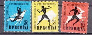 J27572 1957 romania set mh #1180-2 sports