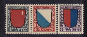 SWITZERLAND #B15-B17 CV $25.00 item #A38