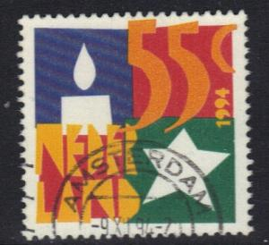 Netherlands 1994  used Christmas candle and star    #
