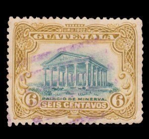 GUATEMALA STAMP 1902 SCOTT # 117. USED. # 9
