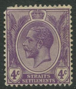 Straits Settlements - Scott 184 - KGV Definitive - 1925 - MNG - 4c Stamp