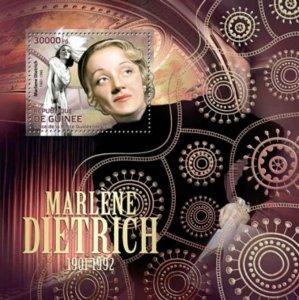 Guinea - Actress Marlene Dietrich - Souvenir Sheet - 7B-1895