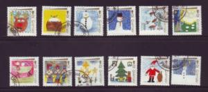 Guernsey Sc 464a-i 1991 Christmas stamps used