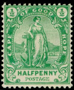 SOUTH AFRICA - Cape of Good Hope SG58, ½d green, M MINT.